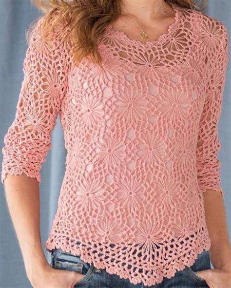 blusas de gancho tejer ganchillo crochet preciosa blusa a crochet paso a paso
