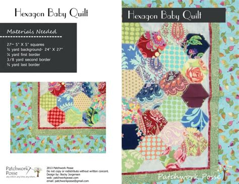 printable baby quilt patterns 5 inch hexagon template printable and baby quilt pattern