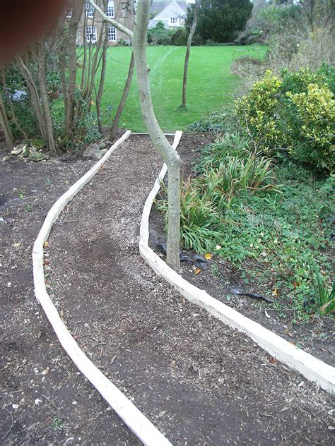 wooden path edging and steps the creative chestnut company