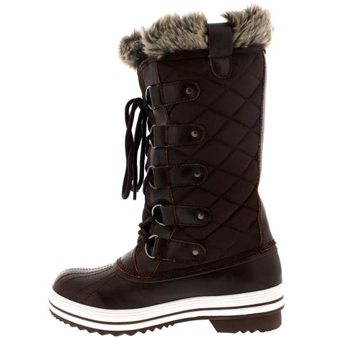 winter boot womens snow boot winter fur lined snow warm