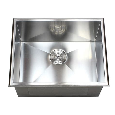 stainless steel drop in utility sink 23 inch drop in stainless steel single bowl kitchen