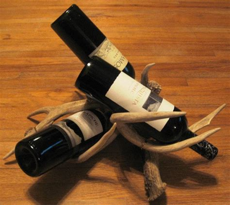 deer antler wine rack by deerdear on etsy