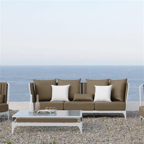 divani da giardino offerte divano da giardino a 3 posti design moderno stripe by talenti