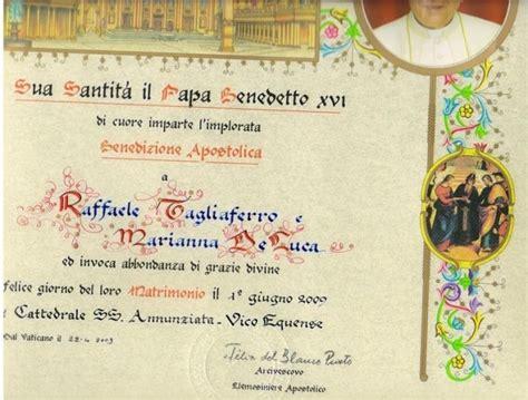 elemosineria apostolica ufficio pergamene benedizione apostolica cerimonia nuziale forum