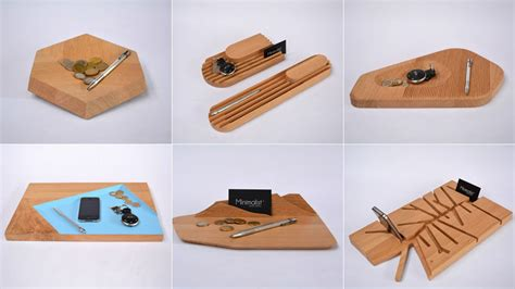 Design Desk Accessories 10 Desk Accessories Designed From A Single Slab Of Wood Gizmodo Australia