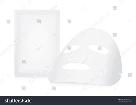 Masker Epoch Sachet sheet mask and sachet on white background stock