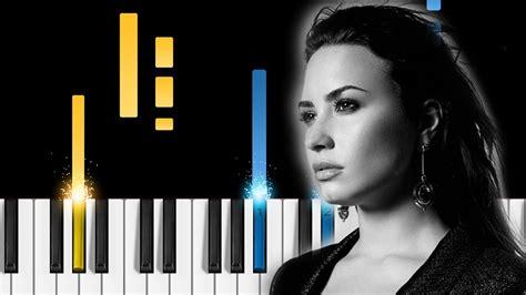 demi lovato sober instrumental download demi lovato sober piano tutorial piano cover