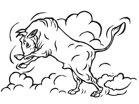 Bull Coloring Pages Printable Realistic Coloring Pages Bull Coloring Pages