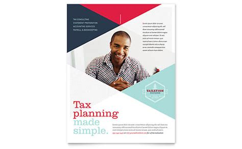 Tax Preparer Brochure Template Design Tax Flyer Templates Free