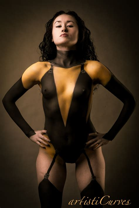 hot paint cosplay body paint featuring kitty pryde silk spectre ii