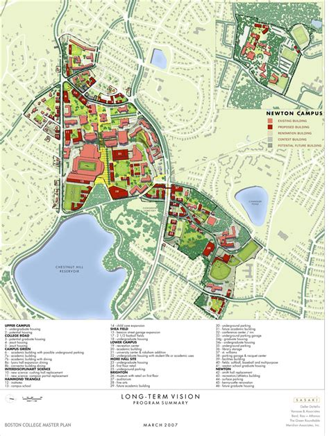 boston college map maps drawings imp boston college