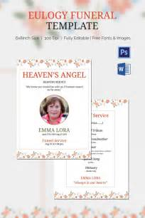 how to write a eulogy template eulogy funeral template 5 word psd format