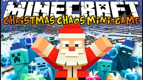 minecraft christmas chaos mini game save christmas youtube