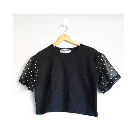 30054 Black White The Oversize S M L Casual Top Le150417 Import black crop top t shirt vintage 1990s from