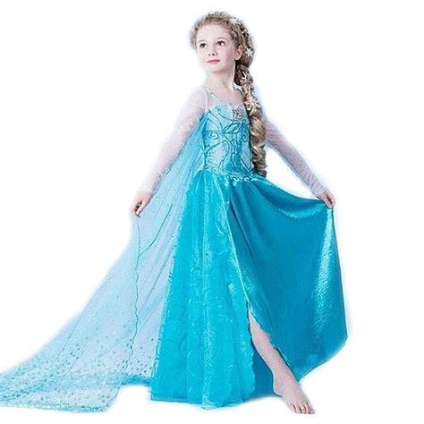 frozen elsa baju anak size 120 z006 blue jakartanotebook