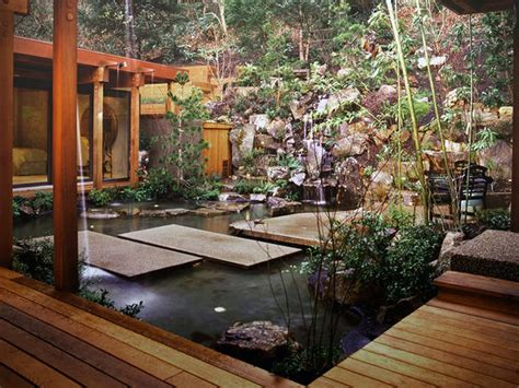 asian garden design fire modern home exteriors