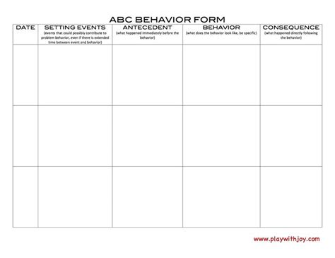 Search Results For Antecedent Behavior Consequence Chart Calendar 2015 Antecedent Behavior Consequence Template