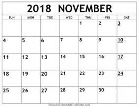 Calendar Nov 2018 November Calendar 2018 Free Calendar 2017