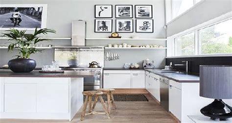 couleur pour cuisine blanche decoration cuisine blanc et grise