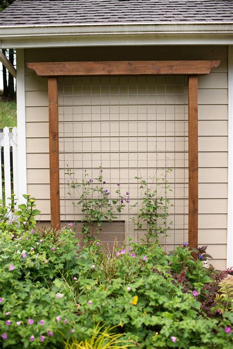 simple garden trellis diy garden trellis out of pressure treated wood and cattle