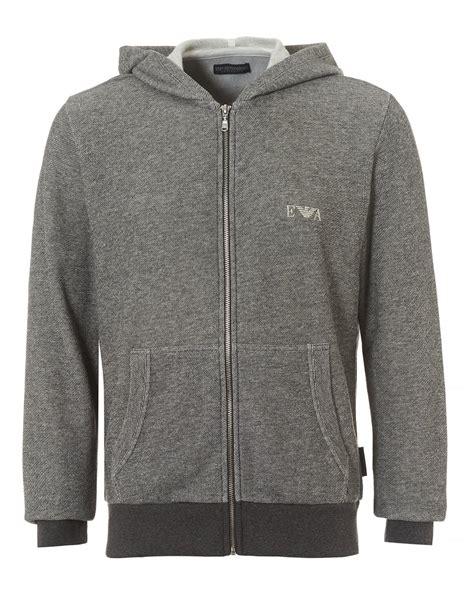 Sweater Jaket Hoodie Eiger Logo emporio armani mens zip up hoodie grey logo hooded sweater
