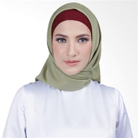 Kerudung Square jual cantik kerudung misha square voal shawl