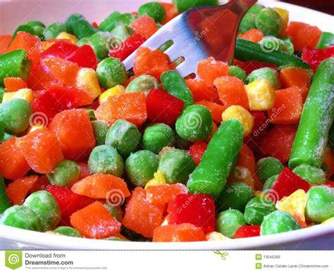 m s frozen vegetables frozen vegetables stock image image of green metallic