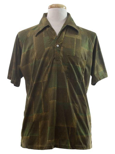 gold pattern shirt retro 70s print disco shirt lilly dache 70s lilly