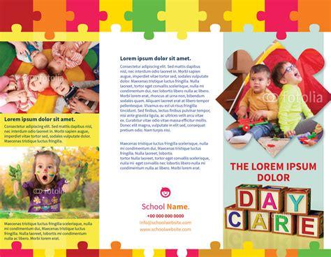 preschool brochure template child day care brochure template myindesign
