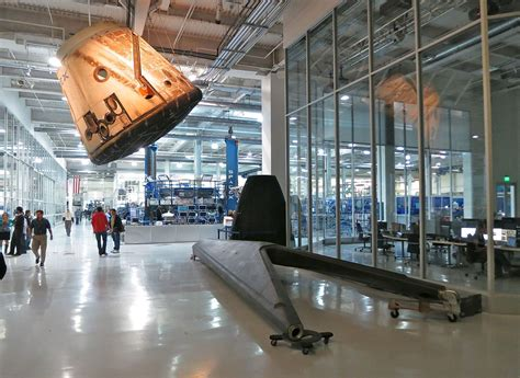 Office Space X File Falcon 9 Landing Leg In Spacex Headquarters