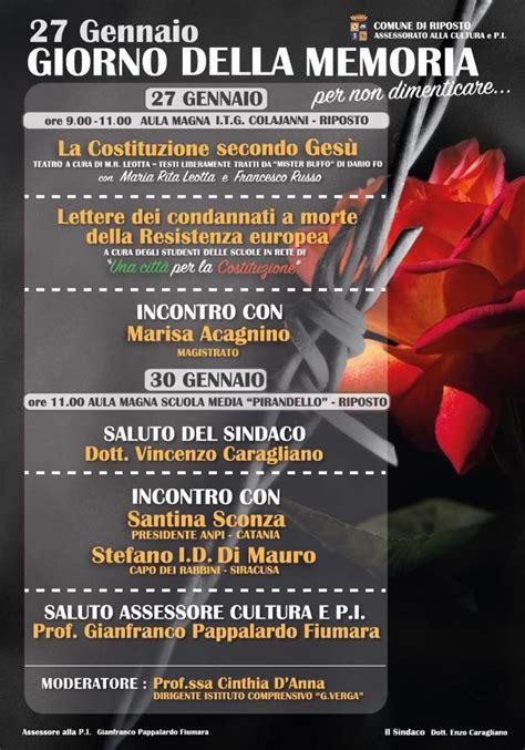 lettere dei condannati a morte della resistenza europea giorno della memoria ecco le iniziative a riposto