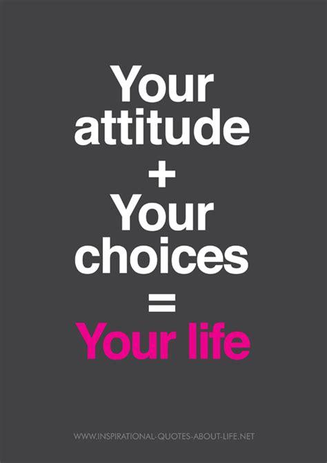 Attitude Quotes Choose Your Attitude Inspirational Quotes Quotesgram