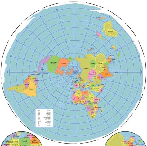 flat world map with country names flat earth around antarticia