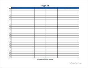Simple Sign In Sheet Template by Free Basic Appointment Sign In Sheet Wide From Formville
