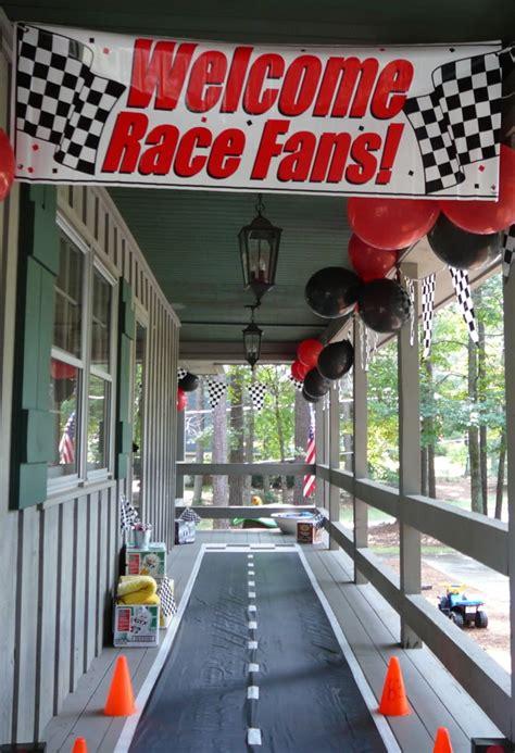 Racing Decorations Disney Cars Birthday Ideas Yvonnebyattsfamilyfun