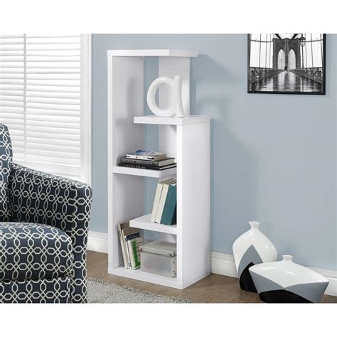 White Open Bookcase by Hton Bay 5 Shelf Standard Bookcase In White Thd90004 1a