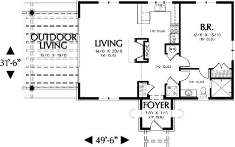 guest cottage floor plans architectural designs