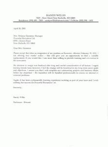 Early Release Notice Letter Dos And Don Ts For A Resignation Letter