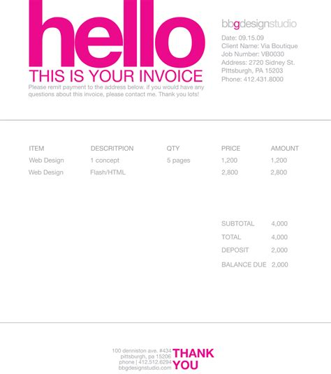 makeup artist invoice template free design invoice template