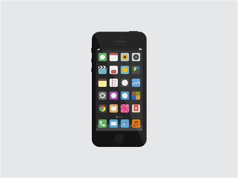 flat ios iphone 5 mockup vector free psd vector icons
