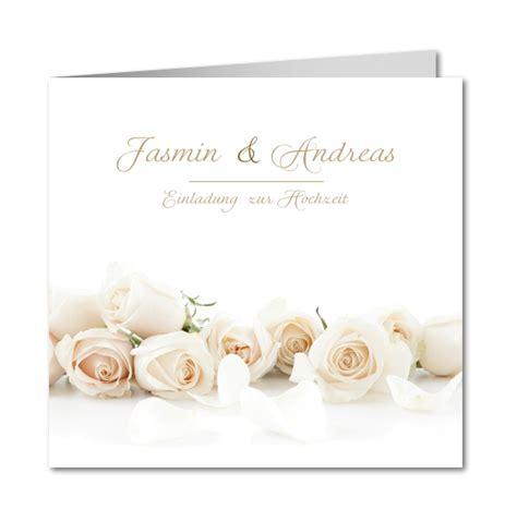 Einladungskarten Hochzeit Creme by Einladungskarte Hochzeit Rosentraum In Creme Planet Cards De