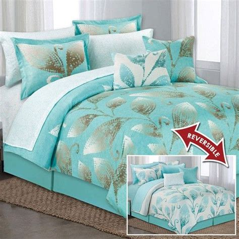 Aqua Comforter Set by Lace Leaf Aqua 10 Comforter Set College Things
