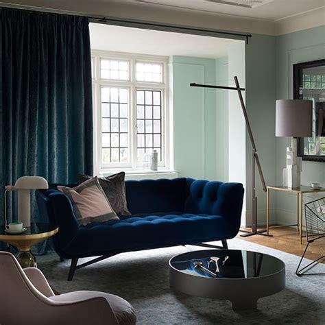 blue velvet sofa living room pale green and blue velvet living room blue velvet