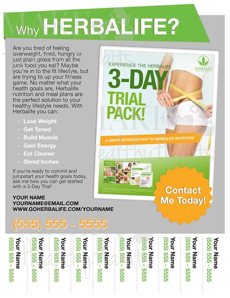 Printable Herbalife Flyer By Kellylynnettedesigns On Etsy Herbalife Leaflet Templates