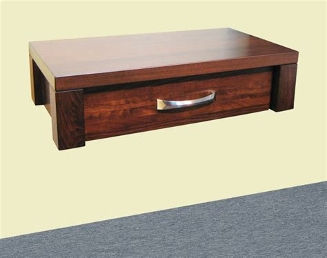 Floating Nightstand Boxwood Floating Nightstand Made Of Maple