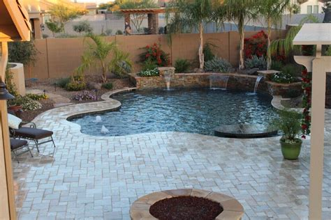 backyard landscaping phoenix phoenix pools and spas gallery swimming pool builders