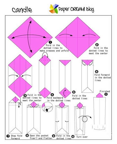 Origami Candle - origami candle paper origami guide