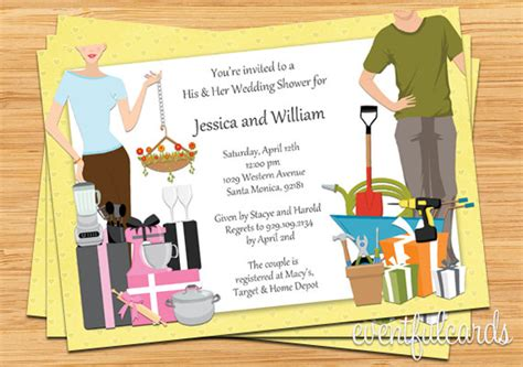 Married Couples Bridal Shower by His And Hers Wedding Shower Invitation By Eventfulcards