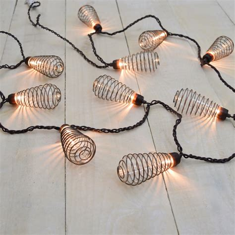 Spiral String - wire spiral patio string lights