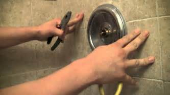 Fix Leaky Bathroom Faucet How To Repair A Moen Shower Faucet Step By Step Youtube
